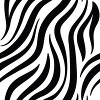 Black and white zebra print pattern vector