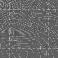 Mappa di linea di contorno astratto bianco e grigio