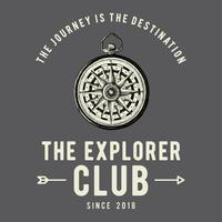 Le vecteur de conception de logo de club d'exploration