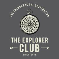 O vetor de design de logotipo de clube explorador
