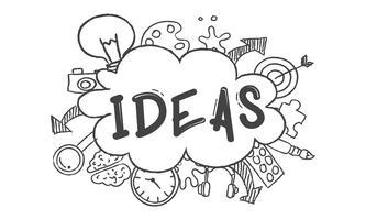 Illustration av glödlampa idéer