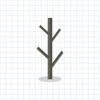 Illustratie van een kale boomtak