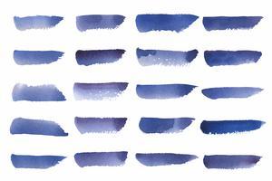 Målad akvarell bakgrund vektor i blått