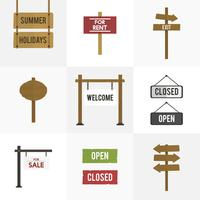 Illustration of signs vector set