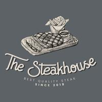 Il logo vettoriale di steakhouse design