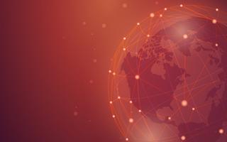 Global anslutning röd bakgrunds illustration vektor