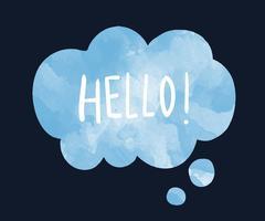 The word hello on a speech bubble vector