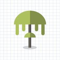 Vetor de planta de fungos