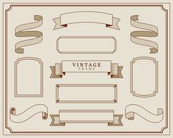 Collection d'illustration de cadre d'ornement vintage