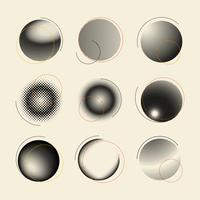 Zwart en wit halftone-embleem