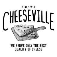 Cheeseville winkel logo ontwerp vector