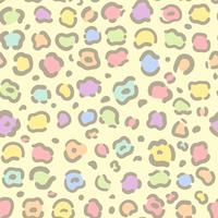 Seamless colorful animal print pattern vector