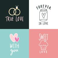 Amour expressions icon set vector