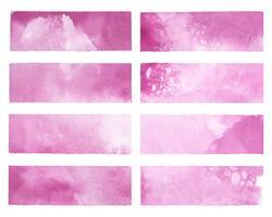 Målad abstrakt vattenfärgvektor i rosa