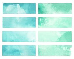 Bunter gemalter Aquarellhintergrundvektor