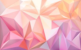 Background wallpaper with polygons in gradient colors vector