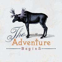 La aventura comienza vector logo diseño.