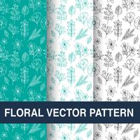 Set of floral vector patterns