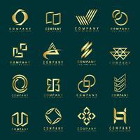 Set of company logo design ideas vector
