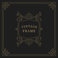 Bloeit vintage ornament frame illustratie