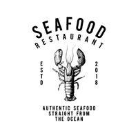 Meeresfrüchte Restaurant Logo Design Vektor