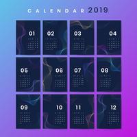 Contour ontwerp kalendermodel