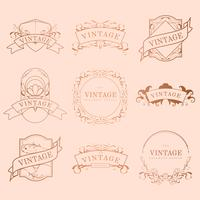 Vintage frame design set