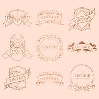 Conjunto de diseño de marco vintage