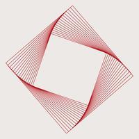 Vecteur d'élément géométrique carré abstrait