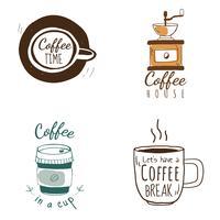 Conjunto de vectores de logos de cafetería