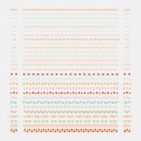 Éléments de design de ligne diviseur vector collection