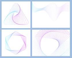 Abstracte geometrische elementen instellen vector