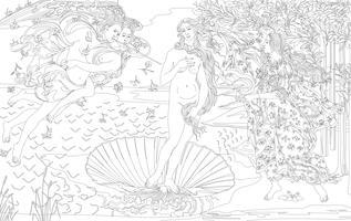 Die Geburt der Venus (1483-1485) von Sandro Botticelli