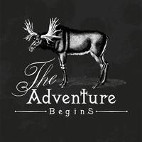 L'aventure commence vecteur de conception de logo