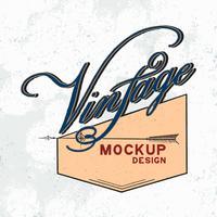 Vector de diseño de logo de maqueta vintage