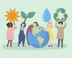 Menschen, die sich um die Welt und die Umwelt sorgen