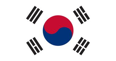 Illustration av Sydkoreas flagga