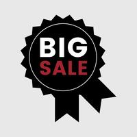 Big sale promotional badge vector
