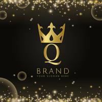 Premium q marca ícone projeto vector