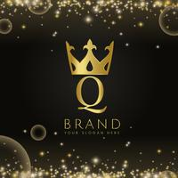 Premium q brand icon design vector