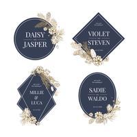 Invitación de boda floral colección