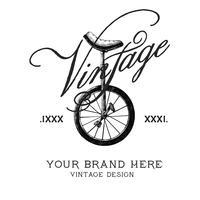 Vector de diseño de logotipo de marca vintage