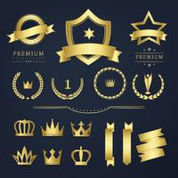 Premium quality badge and banner collection vectors
