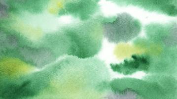 Abstracto verde acuarela mancha textura