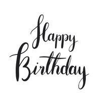 Grattis på födelsedagen typografi stil vektor