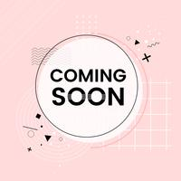 Coming soon shop announcement vector