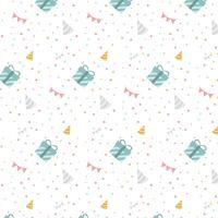 Kleurrijke verjaardag polka dot vector