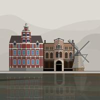 Illustration av Holland turistattraktion