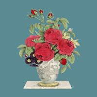 The Boquet by N. Currier. Original from Library of Congress. Digitally enhanced by rawpixel.