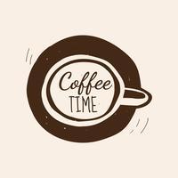 Kaffe tid cafe logo vektor